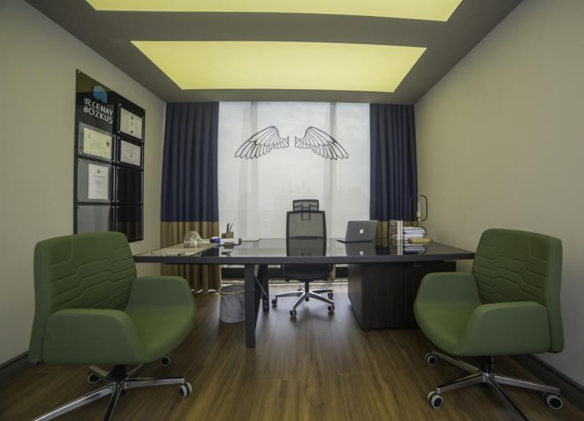 nurus mobilya, dr cenay bozkus, klinik, nurus ofis mobilyaları